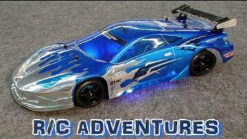 "RC ADVENTURES –  BRUSHLESS TOURING DRIFT CAR PART 7  TAMIYA TT01 R  KIT CUSTOM KIT ""THE DEMO"""