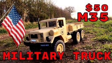 M35 US 6×6 RC Truck. Running review. MZ YY2003 Banggood budget 6wd rc truck review
