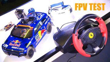 RC ADVENTURES – RED BULL FPV VW RALLY CAR & GAMiNG WHEEL MOD! Carisma AWD, FAT Shark, Thrustmaster