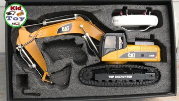 RC EXCAVATOR UNBOXING || TOYS REVIEW || HUINA 580 HYDRAULIC FULLMETAL || FLYSKY
