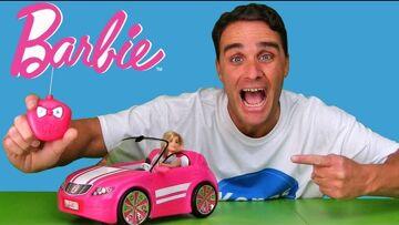 Barbie RC Convertible Car !  || Toy Review || Konas2002