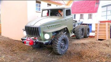 RC Transport! Unique Ural 4320 6×6! Cool RC toys in action! Heavy rc vehicles