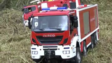 FIRE TRUCKS! AWESOME  RC FIRE TRUCKS AND MACHINES! IVECO FIRE TRUCK!
