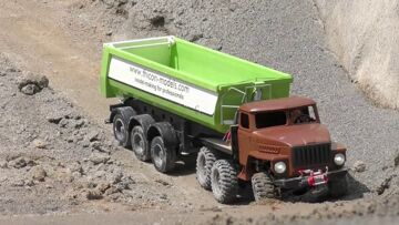 RC BIG CONSTRUCKTION! STRONG AND HEAVY MACHINES WORK AT THE CONSTRUCTION ZONE! RC LIVE ACTION