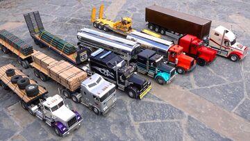 7 Truck Semi Convoy Rolls through a City – 1/14th κλίμακα   RC ΠΕΡΙΠΈΤΕΙΕς