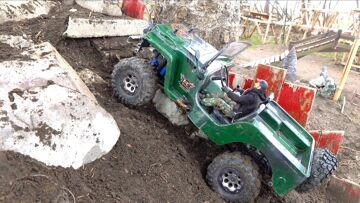 NACH 2.5 YEARS, I fire up the Jeep Willy & Patrol the Backyard Trail Course   RC ADVENTURES
