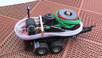 BIG RC FIRE WATER PUMP! SPECIAL RC TRAILER FOR FIRE TRUCKS! RC LIVE ACTION MACHINES!