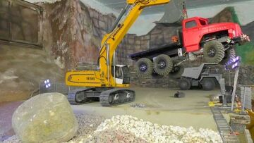 MACHINES!   AWESOME RC  WORK DAY – RC URAL – RC EXCAVATOR – RC EARTH MOVER
