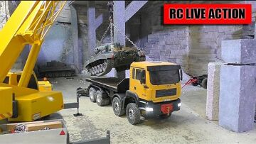 RC CRANE TRUCK ACTGION AND  BIG SCALE RC TANK | LIEBHERR LTM 1055! Amazing rc toys!