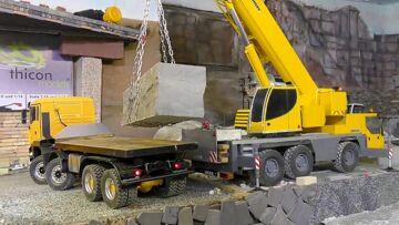 Heavy RC crane action 🔥The maximum load 55 t 🔥FANTASTIC Liebherr LTM 1055 crane🔥 RC LIVE ACTION