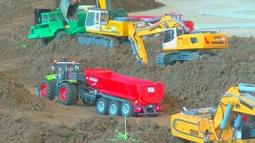RC Construction stite! Fantastic hobby and toys 2017! Best Mercedes Benz, liebherr & Fendt traktor!