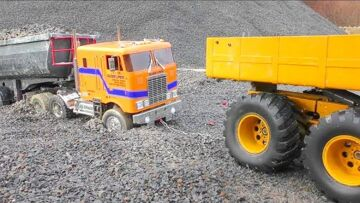 RC VOLVO L250G LOAD BIG STONE BLOCKS! COOL RC ACTION WITH HEAVY VEHICLES ! AMAZING RC MACHINES