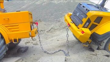 RC Accident! Volvo L250 in Danger! Cool rc Construction site! Veículos surpreendentes!
