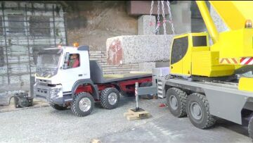 Volvo Truck FMX 8×8! Amazing RC Vehicles from Liebherr and Volvo in Actíon!