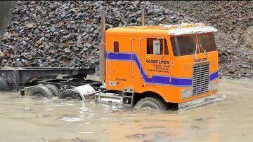 MEGA RC Machines! Fantastic RC Vehicles work in Mud! Heavy Rain Day!