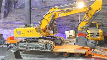 RC Liebherr R970 SME ! New chain-saw on the digger! Fantastic rc vehicles!