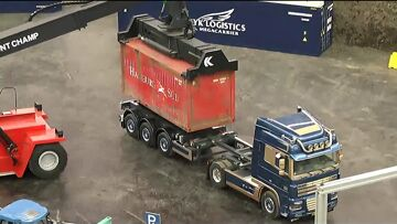 RC CONTAINER TERMINAL, RC TRUCKS AND MACHINES