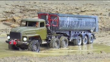 RC TRUCK AND EXTREME WEATHER! URAL 4320 AND MAZ 537! AMAZING RC VEHICLES