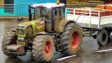 BEAUTIFUL RC SCALE MODELS TRUCK LOADER AND TRACTOR IN MOTION ON A FANTASTIC PARCOUR