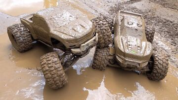 KABOOM! MUDDY XMAXX BLOWS 3 TIRES, but we ONLY SAW 1 UNTIL EDITING! 8s LIPO | RC ADVENTURES