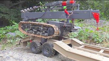 HEAVY RC TRACK DRILL DOZER! STRONG 6X6 TRUCK RESCUE! RC TWO AXLE TRAILER RESCUE! CROSS RC VEHICLES