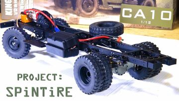 """RC 冒险 – 项目: """"SPiNTiRE"""" – Built a ROLLER in 20 Min – King Kong RC 1/12 CA10 Truck"""