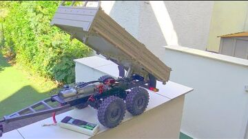 CROSS RC HYDRAULIC TRAILER! SELF MADE HIDRAULIC RC TIPPER! TRAILER 003 SPECIAL RC LIVE ACTION