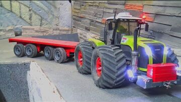 CLAAS XEREON 5000 Rc! UNIQUE RE-BUILD RC TRACTOR 4x4x4! SPECIAL RC LIVE ACTION VEHICLE!
