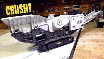 LET'S REPAIR THE ROCK CRUSHER!  TEREX FINLAY 1/14 scale – YouTube GOLD FIXES    RC ADVENTURES