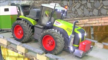 CLAAS XEREON 5000 RC! THE FLED HORSE! NEW TIRES FOR THE CLAAS TRACTOR! RE-BUILD BRUDER TOY TRACTOR