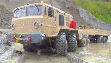 HEAVY RC MAZ WORK IN MUD! RC WORK EXTREME IN RAIN AND MUD! STRONG MAZ 537 RC IN ACTION! RC VEHICLES