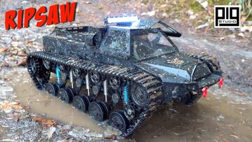 """WORLD'S MOST DESIRED """"RIPSAW"""" EV1 1/10th SCALE LUXURY SUPER TANK GETS DIRTY! 