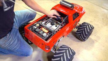 "RAMINATOR ""TOY"" MONSTER TRUCK 49cc GAS POWERED w/ RIGID LED LIGHT BAR | RC ADVENTURES"