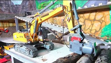 RC WOOD CUTTER R970 SME! NEW SCANIA R560 6X6 AGRAR! NEW RC VEHICLES 2020! COOL RC MACHINES AT WORK