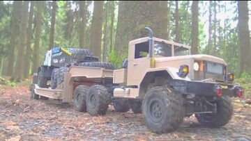 RC STUCK IN ICE WATER! Ural 4320 RESCUE THE TAMIYA GLOBE LINER! RC TIGER! HEAVY HC6 TRUCK STUCK