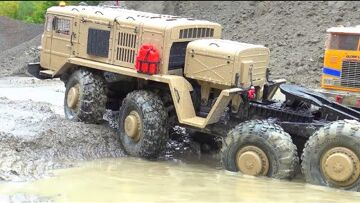 HEAVY RC MAZ 537 AND FRIENDS! RC WORK IN MUD! RC WORK IN RAIN! BIGGEST RC CONSTRUCTION SITE! BEST RC