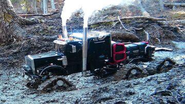 """PRZYGODY RC – Muddy Tracked Semi-Truck 6X6X6 HD OVERKiLL & 4X4 """"BEAST"""" MT on the Trail"""