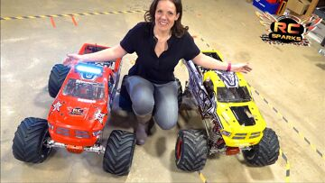 """HIS & HERS """"ToY"""" MONSTER TRUCKS – JEM BUILDS a PRIMAL a GAS POWERED PRIMAL RAMINATOR 