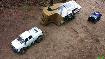 RC ADVENTURES – Camper Trailer Rollover – Chevy Duramax & Toyota Hilux