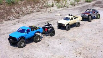 RC AVONTUREN – Three 4×4 Trucks Explore an Ancient Wasteland