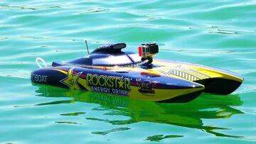 RC ADVENTURES – Racing Dual Rockstar 48″ Gas Powered Catamaran Speed Boats