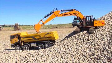 RC ADVENTURES – 1/12 Scale Earth Digger 4200XL Excavator & 1/14 8×8 Armageddon Dump Truck