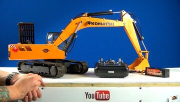 AVVENTURE RC – Powerful 1/12 Scale Earth Digger 4200XL RC Excavator (Hydraulic/Electric)