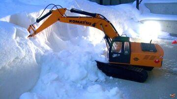 RC ADVENTURES – Excavating Powder Ridge – 1/12 Scale Earth Digger 4200XL Hydraulic Excavator