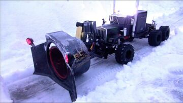 RC ADVENTURES – Rotary Snow Plow / Snow Mover (Test 1 – Night Time)