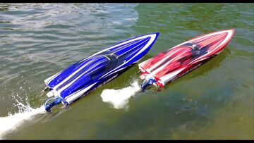 RC ADVENTURES – Duelling Traxxas Spartan Speed Boats and Two DJi Phantoms taking Aerial Footage