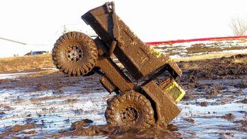 RC ADVENTURES – Mega Muddy Tonka Dump Truck Stomping Grounds
