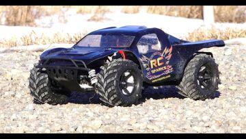 RC ADVENTURES – MONSTER TRAXAS SLASH 4×4 HCG, 3s Lipo, 2.8 Masher Tires
