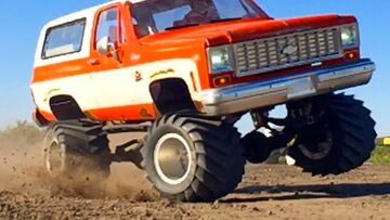 BOOSTED CHEVY K5 Blazer 4×4 RC Truck – 6s Lipo Pulls JUDGE | RC ADVENTURES