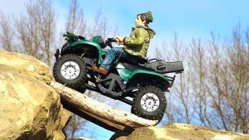 RC ADVENTURES  – Mini Suzuki Vinson 500 ATV 4×4 on the trials course – 1/24 Scale Losi Micro Trekker